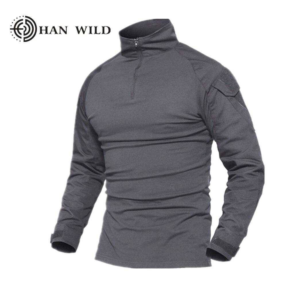 Для мужчин Военно-тактические футболка с длинным рукавом SWAT солдаты армейские футболка Airsoft Одежда Человек армии США рубашки нет колодки