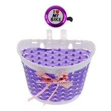 1Pcs Basket Bicycle Kids Girls Boys Children Child Front Basket+ Ring Bell Cycle Horn for Bkie Bicycle Accessories