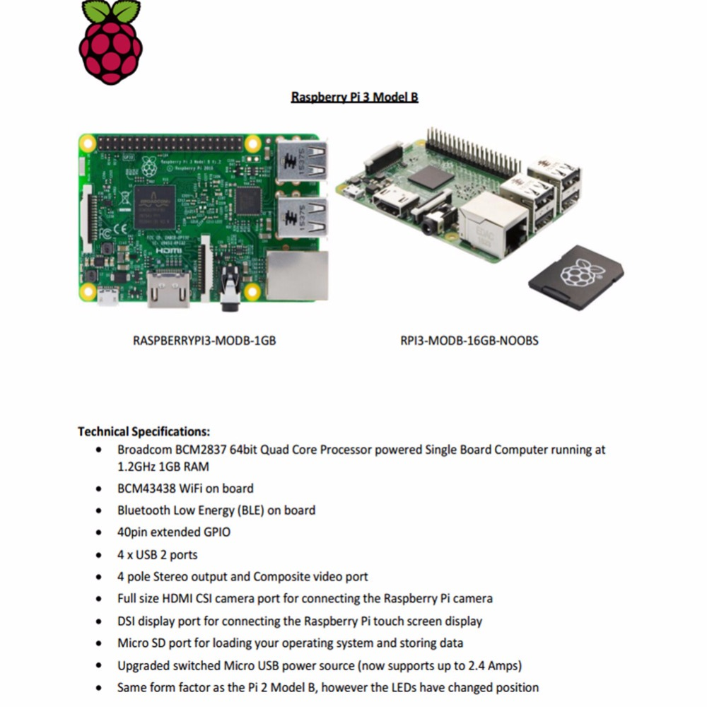 Orijinal element14 Raspberry Pi 3 Model BOrijinal element14 Raspberry Pi 3 Model B