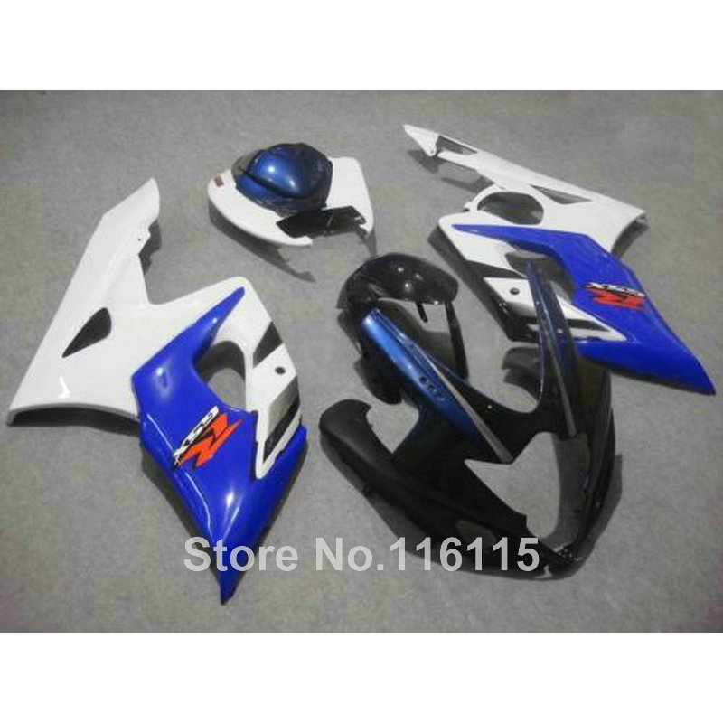Injection molding ABS full fairing kit fit for SUZUKI GSXR1000 2005 2006 blue white black fairings GSXR 1000 05 06 K5 K6 CP47 abs full fairing kit for suzuki injection molding k5 gsxr1000 2005 2006 red flames black fairings set gsxr 1000 05 06 yq67 cowl