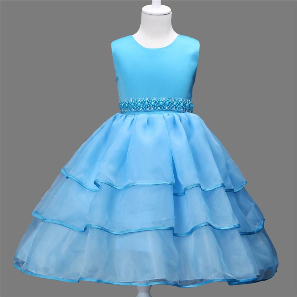 643ac8853463a Mode robe soirée fille 12ans junior robe de bal genou haute court enfants  robes de mariée parti vêtements 2017 dans Robes de Mère et Enfants sur ...