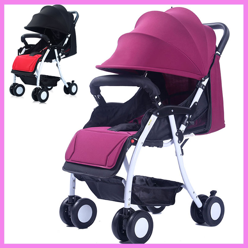 Portable Baby Stroller Flat Lying Baby Umbrella Stroller Folding Shock Absorber Baby Carriage Quick Smart Full Ratating Wheels lt 5t full metal full hard oxygen treatment combination shock absorber leakage proof 4 pcs