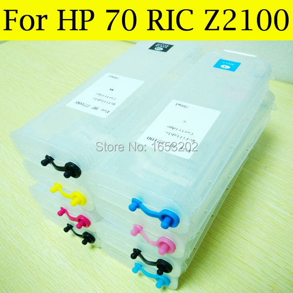 8 Pieces/Lot Empty  For HP 70 Refill Ink Cartridge For HP Designjet Z2100 Z5200 2100 With HP70 Auto Reset Chip refillable ink cartridges for hp 70 z2100 3100 b9183 with auto reset chip