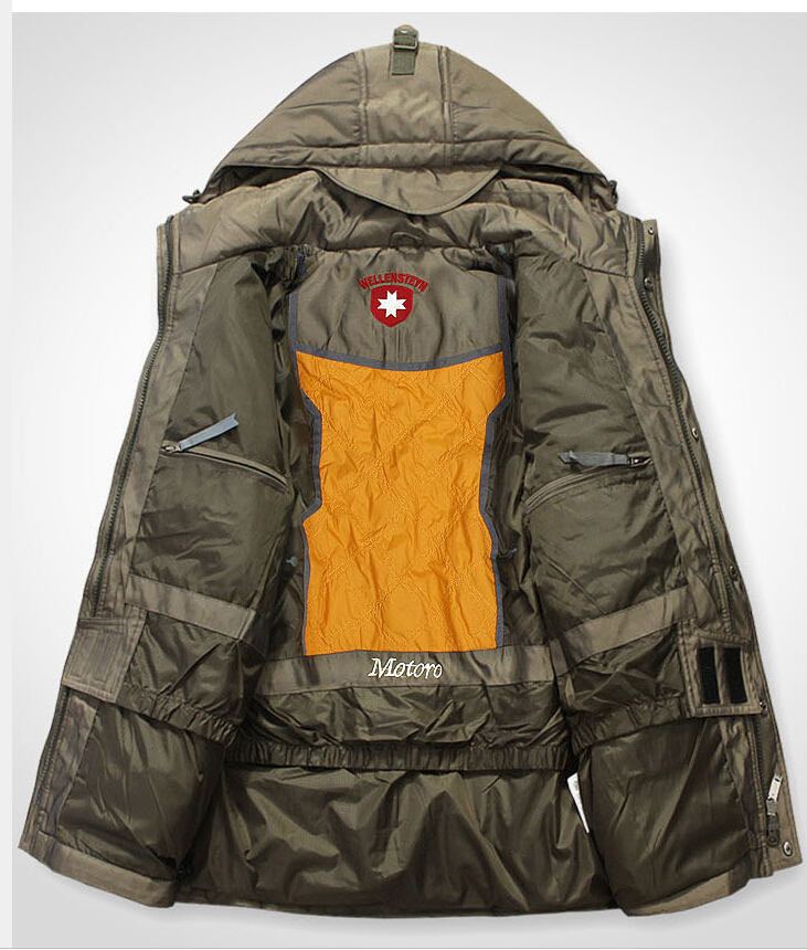 German Military Outdoor Winter Jacket Men Down Jacket Long Thicken ...