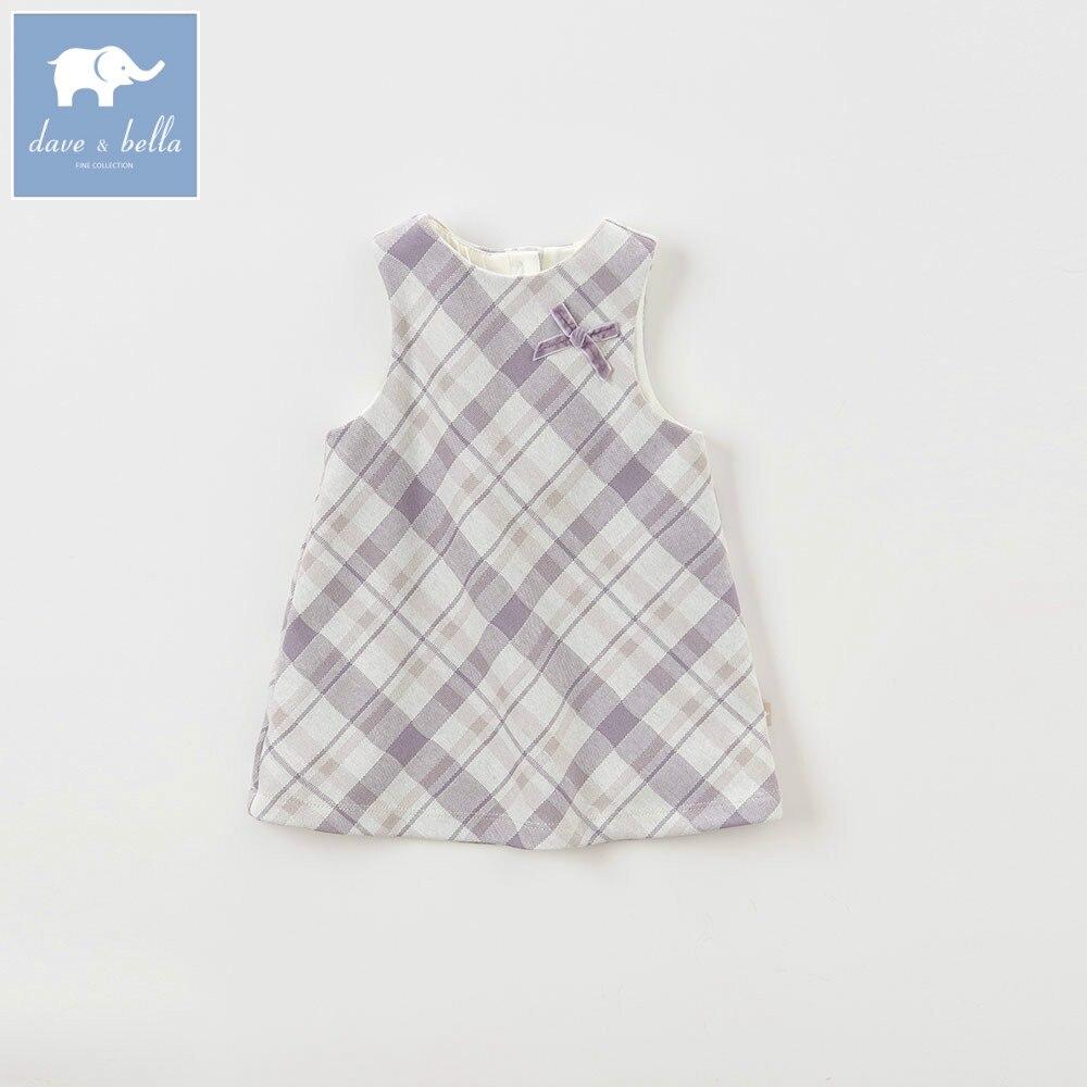 DB5708 dave bella baby girl lolita dress stylish printed dress toddler children dress набор торцевых головок kraftool expert qualitat 27865 h8 z01