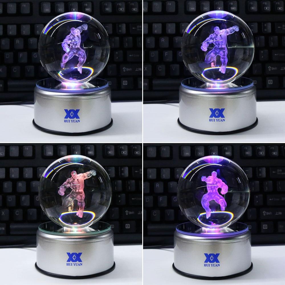 Avengers Hulk 3D Crystal Ball Lamp Desktop Decoration Glass Ball - Night Lights - Photo 2