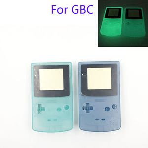 Image 2 - Plastic Luminous Housing Shell Fluorescent Case For GBC Gameboy Color Glow Blue Green Color Case Cover