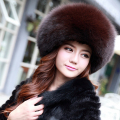 Fashion Women Fur Hats Hot Sale Real Fox Fur Caps With Genuine Leather Tops Warm Fur Hat Winter Wholesale YH133