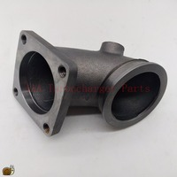 Vband 90 Degree Cast Turbo Elbow Adapter Flange Cast AAA Turbocharger Parts