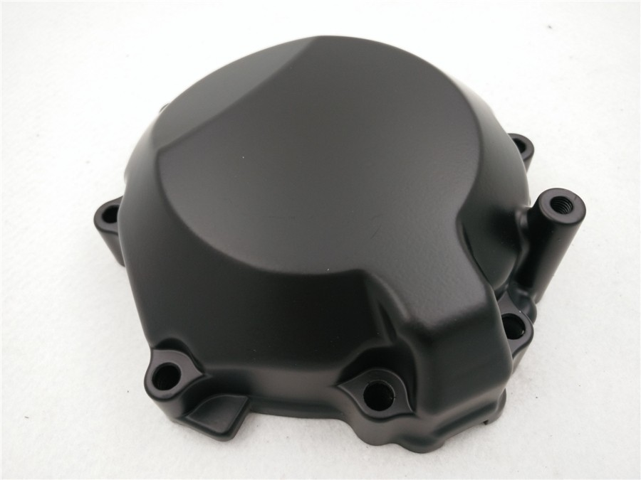 Aftermarket free shipping motorcycle accessories Aluminum Engine stator cover for 2006-2007 Kawasa ZX-10R Crankcase Left Black aftermarket free shipping motorcycle part engine stator cover for suzuki gsxr600 750 2006 2007 2008 2009 2013 black left side