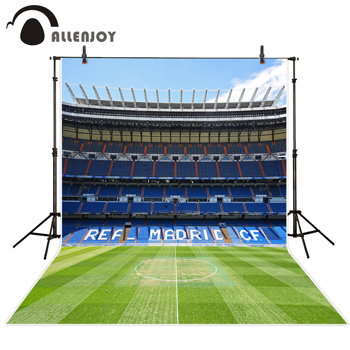 Allenjoy photocall real football field customize background birthday celebration communion Photocall for weddings girls birthday backdrops baby shower background black white stripe cosmetic invitation celebration table banner party allenjoy