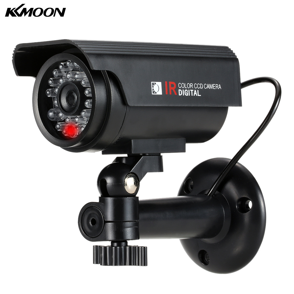 Solar Powered Fake Camera Dummy Camera Waterproof Outdoor With LED Light  For House Office Market CCTV Security System