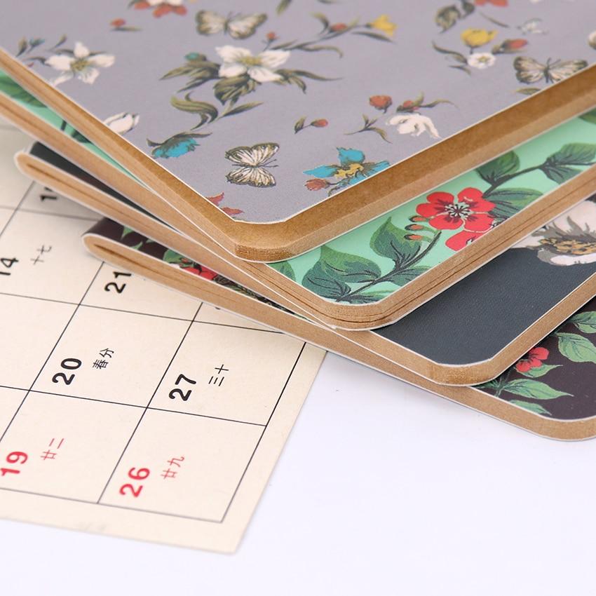 1PC Butterflies Flower Notebook Office Supplies Diary Book DIY Retro The Kraft Paper Blank  Memo Pad Sketch Book Notepad