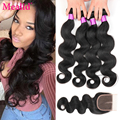 Brazilian Body Wave With Closure 4 Bundles Brazilian Virgin Hair With Closure 1b Cheap Brazilian Human Hair With Closure