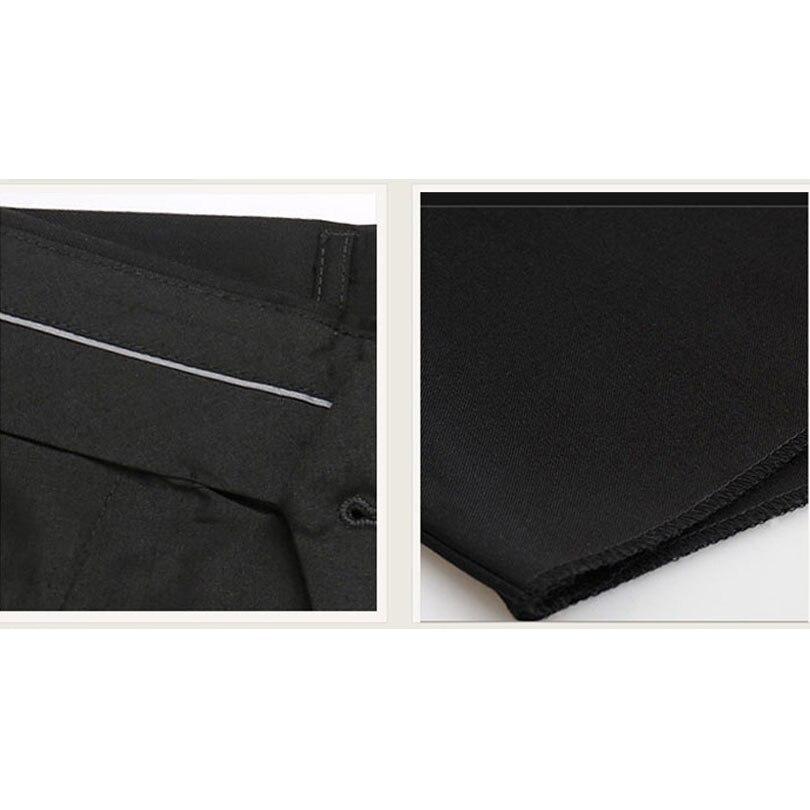5a3811640ec Classic Men Black Suit Pants Business Casual Slim Fit Dress Pants Men  Formal Trousers Regular Wedding Straight Four Seasons Wear-in Casual Pants  from Men s ...