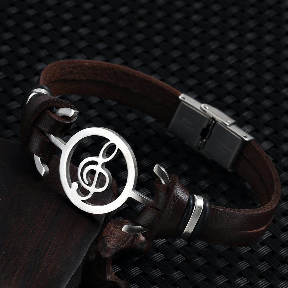 2018 hot liujun Retro Fashion Men's Bracelet Music Notes