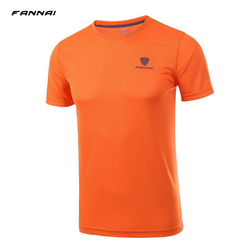 FANNAI Men Short Sleeve Running T Shirt Men Compression Soccer Jerseys Brearthable Quick Dry Jogging Sportwears Large Size 4XL ...