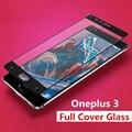 Para oneplus 3 templado pantalla de cristal protector de la cubierta completa uno más tres oneplus3 9 h 2.5d ultra thin film protector guardia