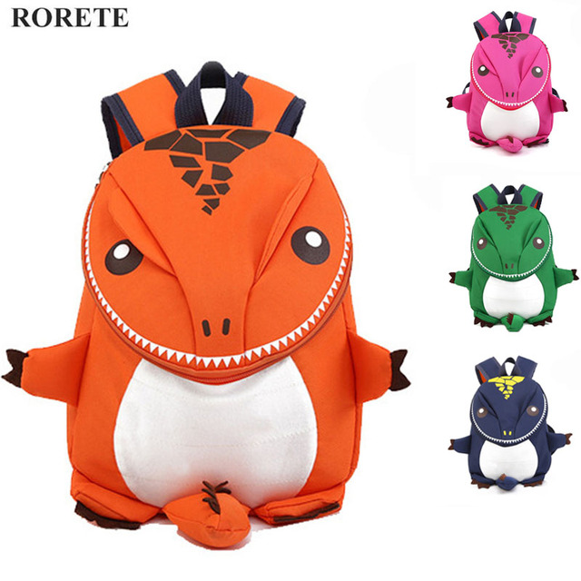 Preppy Kids School Bag 3D Dinosaur Backpack For Boys Children backpacks  kindergarten Small SchoolBag Girls Cute animal rucksac f269635a44eea