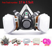 17 In 1 Suit Painting Spraying Gas Mask Same For 3 M 6200 Half Face Gas