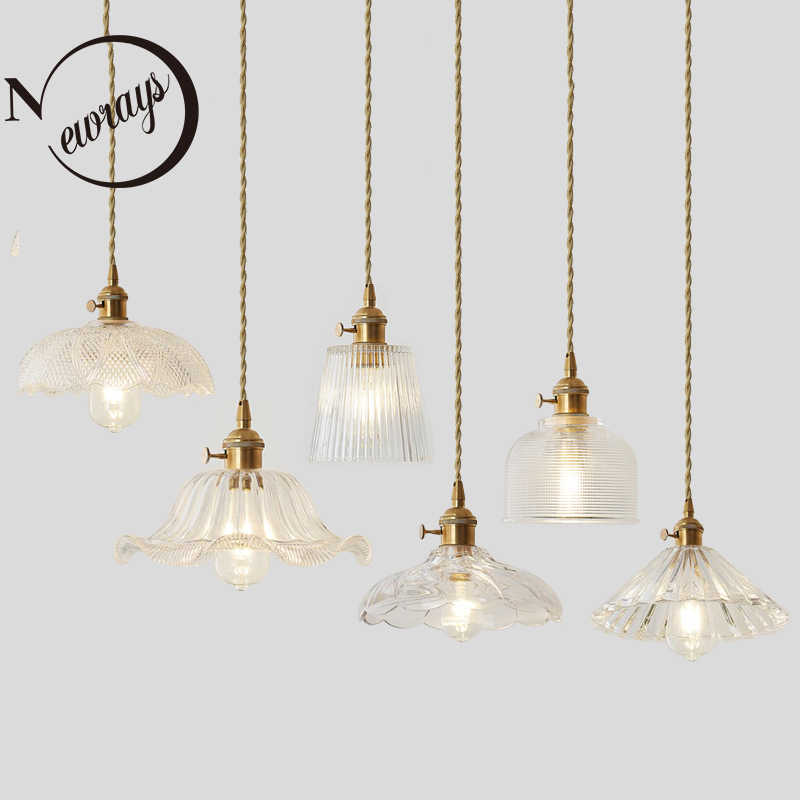 Nordic simple copper single head creative pendant lights for living room bedroom bathroom study restaurant cafe bar clothing