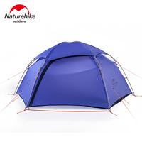 Naturehike 2 Person Outdoor Waterproof Peak Tent Portable Aluminum Rod Six Angle Mountain Tents Camping Picnic