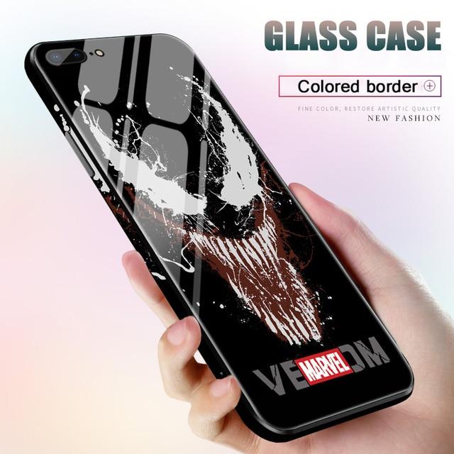 Vidro temperado The Avengers Homem de ferro tampa do caso para o iphone 6 6s 7 8 plus X XS XS XR Max DC Liga Da Justiça casos de telefone Superman