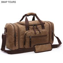 SNAP TOURS 2019 promocja sprzedaż mężczyźni płócienne torby podróżne mody duża pojemność mężczyzna przenoszenia na torba weekendowa tanie tanio Płótno zipper Wszechstronny 25cm Stałe 1 3kg CC-077 Miękkie 53cm Moda POLESTER 30cm Podróż torba