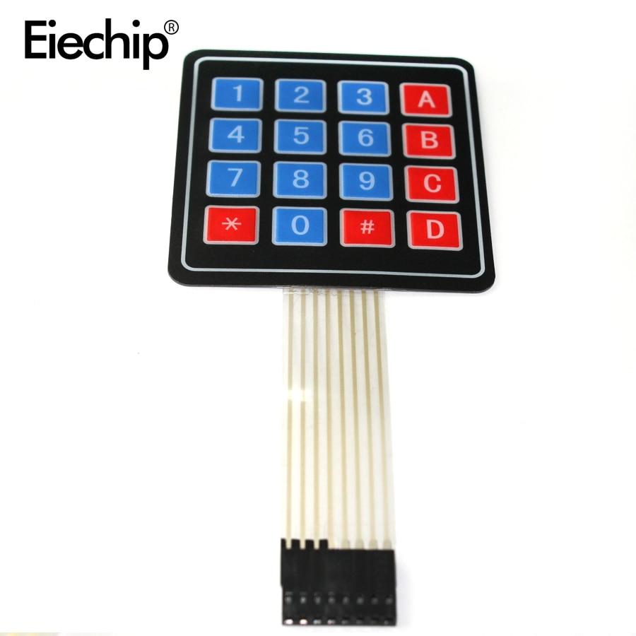 5PCS 1x6 Matrix Array 6 Key Membrane Switch Keypad Keyboard 1*6 Keys with LED