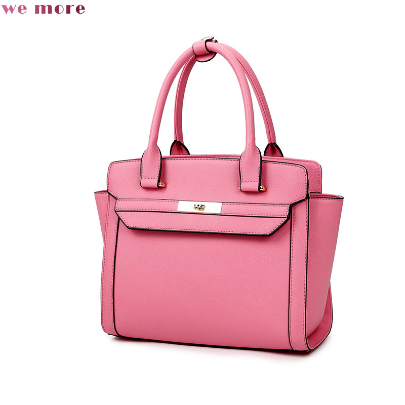 WE MORE Women Bag PU Leather Tote Brand Name Bag Ladies Handbag Lady Evening Bags Solid Female Messenger Bags aelicy new women bag pu leather tote brand bag ladies handbag lady evening bags female messenger bags for girls bolsa feminina