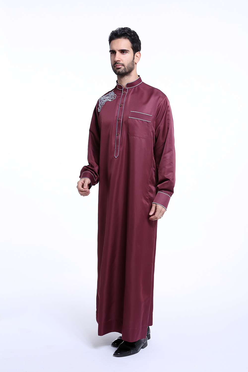 25457f6c844 DJGRSTER Arabic Robe Men Cotton Linen Long Robes Chinese Style Clothing  White Arab Clothing Loose Casual Male Islamic Clothing. 333. 2 1 3 4 5 6 ...