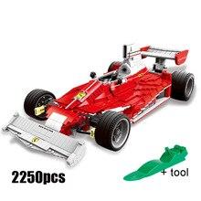 XINGBAO 03023 high-tech Series Racing Car The Formula Car Model Ferraris Model Building Kit Stacking Blocks Toys For Kids