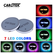 CARLitek Auto Led Tasse Halter Pads Licht Matten Flasche Untersetzer 7 Farben Auto Logo Led Atmosphäre Licht Auto Innen Teile