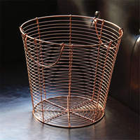 Nordic Ins Iron Rose Gold Storage Baskets Bedroom Dirty Clothes Storage Basket Handmade Handles Miscellaneous Articles Laundry