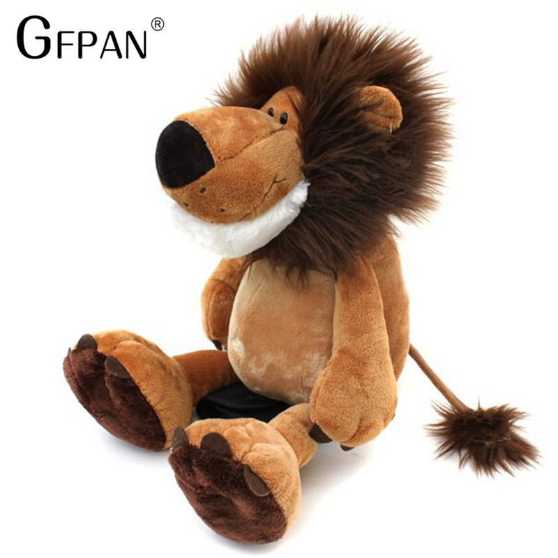 1pc 25cm Super Quality Big Size Lovely Lion Toys Plush Doll  Stuffed Animal Doll Best Birthday Gift For Boys&Girls
