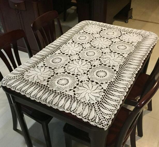AliExpress & Handmade Crochet Hollow 100%Cotton Table Cloth Tablecloths European ...