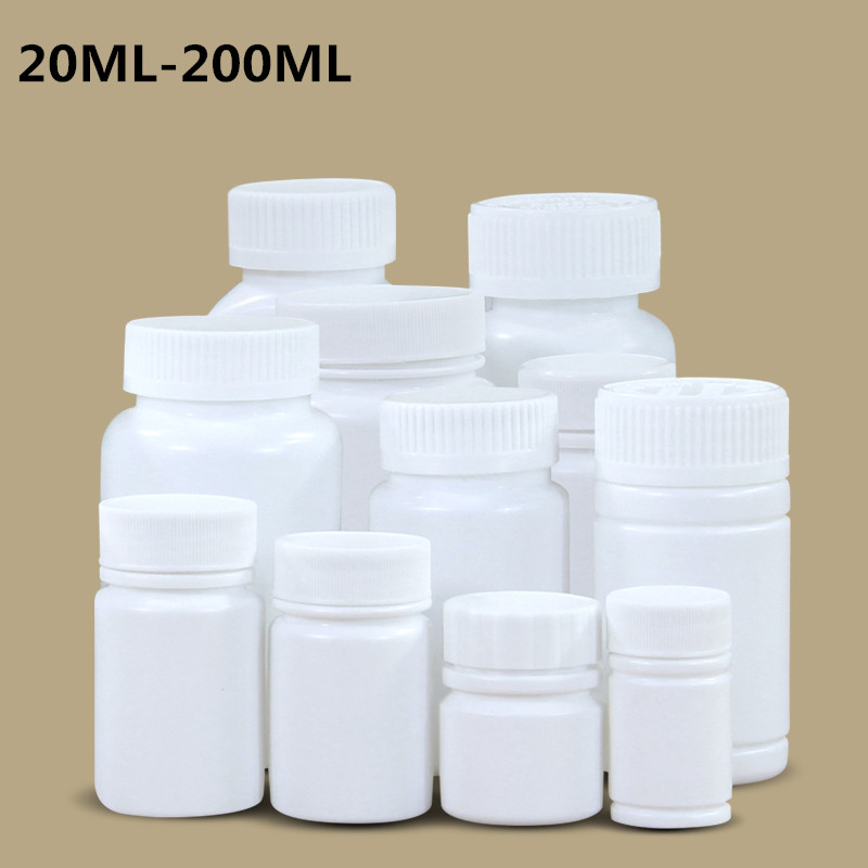 20ml/30ML/40ML/50ML/70ML/100ML/150ML/200ml Empty Plastic Bottle Portable Container For Medicine Pill Capsule Food Grade HDPE