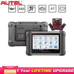 Image 1 - Autel Maxidas DS808K OBD2 Scanner Car Diagnostic Tool Functions Of EPB/DPF/SAS/TMPS Better Than Launch X431 Scanner Automotivo