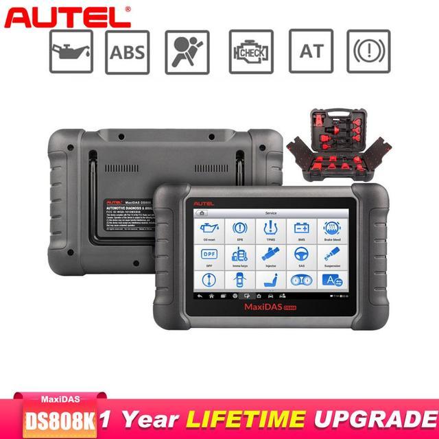 Autel Maxidas DS808K OBD2 Scanner Car Diagnostic Tool Functions Of EPB/DPF/SAS/TMPS Better Than Launch X431 Scanner Automotivo