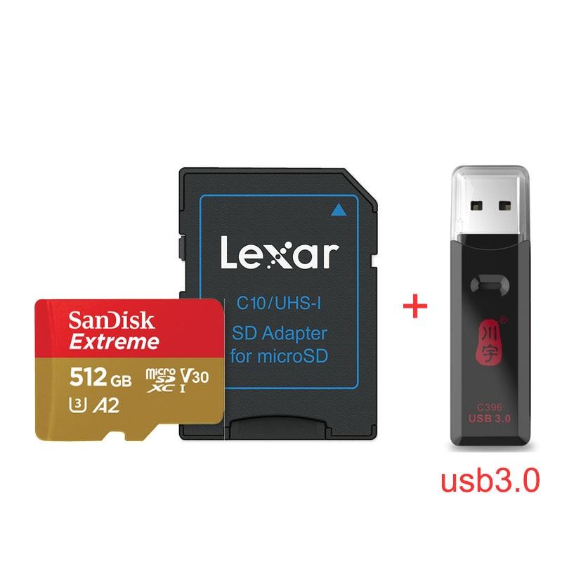 ORIGINAL SANDISK EXTREME Micro SD UHS-I CARD Drone TF Card Memory Card Motion Camera A2 V30 U3 32GB 512GB 400GB 256GB 64GB 128GB