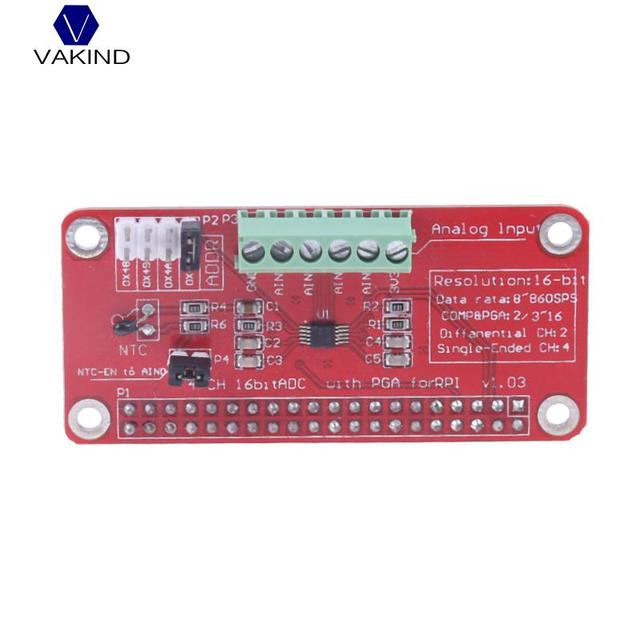 US $13 15 |3 3V ADC Adapter Module Broard 16 Bits 8sps To 860sps For  Raspberry Pi ADC Converter Module For MCU-in Computer Cables & Connectors  from