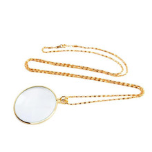 Xinxiang Decorative Necklace 5x Magnifier Magnifying Glass Pendant Gold Silver Plated Chain Soldering