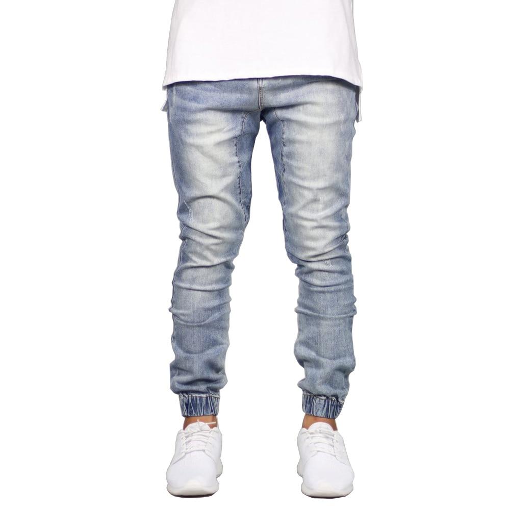 модные эластичный для мужчин джинсы для