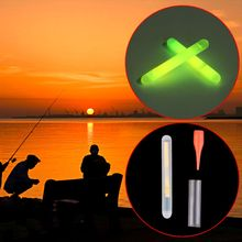 50 Pcs Durable Fishing Fluorescent Lightstick Light Night Luminous Float Clip On Dark Glow