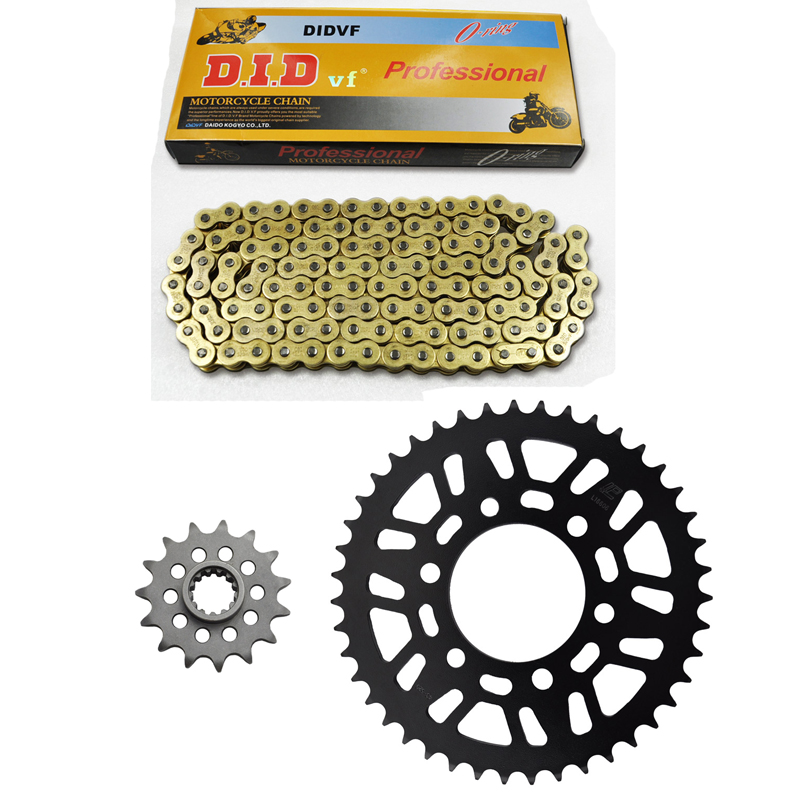 MOTORCYCLE 520 CHAIN Front & Rear SPROCKET Kit Set FOR Kawasaki Road ZX-6R(ZX600 G1-G2,J1-J3),ZX-6RR,ZX636 A1P C1,C6F,D6F 1 set motorcycle front