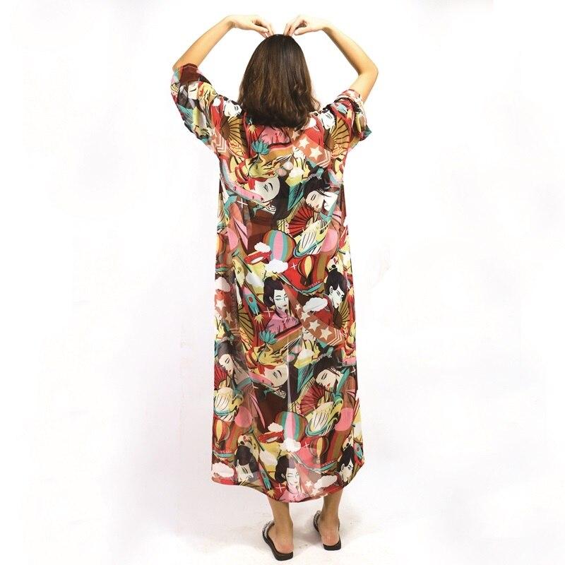 Japanese Kimono Yukata Kimono Cardigan Fashion Blouse Women 2019 Long Sleeve Cardigan Haori Traditional Kimonos Dress FZ016