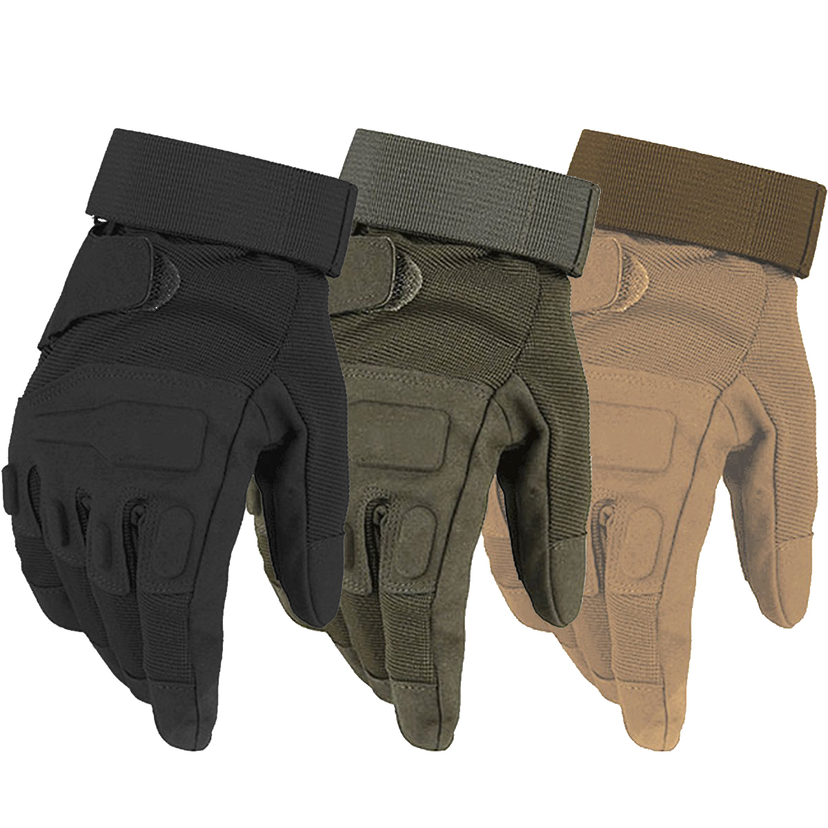 Black leather combat gloves - Black Hawk Tactical Gloves Military Army Paintball Airsoft Combat Shooting Anti Skid Bicycle Full Finger Gloves For Men Women