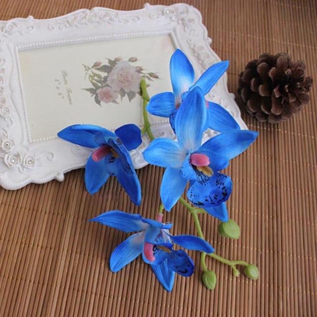 Orchideen Kopf 10 stücke dia 8 5cm kopf 4 köpfe seide vanda schmetterling