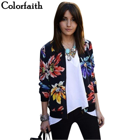 Clearance! SALE Women Jackets 2017 Autumn Winter New Fashion Ladies Floral Printed Patchwork Zipper Casual Jackets Outwear JK002 Islamabad