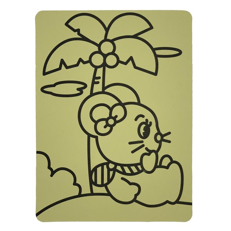 شحن مجاني 1000 قطعة A5 الأصفر ملصقا بطاقات للفن الرمل الاطفال حزب لعبة-في ألعاب الرسم من الألعاب والهوايات على  مجموعة 3